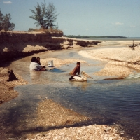 Playing in the creek at Bouchet, Weipa - Photo by Jennifer Isaacs