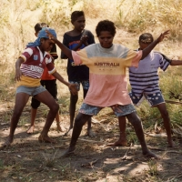 Young Weipa Dancers, 1988, taught by Thancoupie - Photo by Jennifer Isaacs